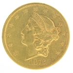1872 S $20 Gold Double Eagle Liberty Coin