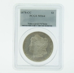 1878 CC Silver Morgan Dollar PCGS MS-64