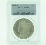 1879 S Silver Morgan Dollar PCGS MS-63