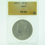 1880 Silver Morgan Dollar ANACS MS-62