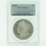 1880 S Silver Morgan Dollar PCGS MS-64+