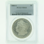 1880 S Silver Morgan Dollar PCGS MS-64
