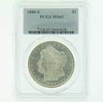 1880 S Silver Morgan Dollar PCGS MS-65