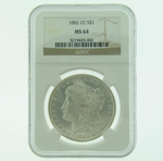 1882 CC Silver Morgan Dollar NGC MS-64 Carson City
