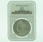 1883 0/0 VAM-4 Silver Morgan Dollar NGC MS-62 TOP-100