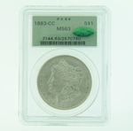 1883 CC Silver Morgan Dollar PCGS MS-63 CAC