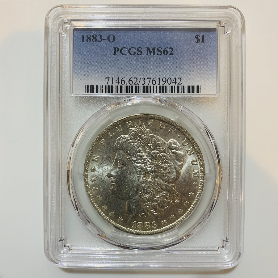 1883-O Silver Morgan Dollar PCGS MS-62