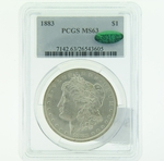 1883 Silver Morgan Dollar PCGS MS-63 CAC