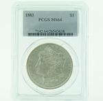 1883 Silver Morgan Dollar PCGS MS-64
