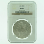 1884 O Silver Morgan Dollar NGC MS-63
