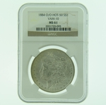 1884 O/O VAM-10 Silver Morgan Dollar NGC MS-61 HOT-50