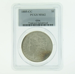 1885 CC Silver Morgan Dollar PCGS MS-62 GSA