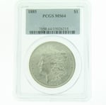 1885 Silver Morgan Dollar PCGS MS-64