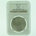 1887 O Silver Morgan Dollar NGC MS-63