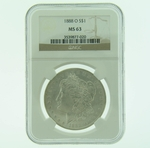 1888 O Silver Morgan Dollar NGC MS-63