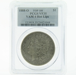 1888 O VAM 4 Hot Lips Silver Morgan Dollar PCGS VF35