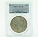 1890 O Silver Morgan Dollar PCGS MS-62