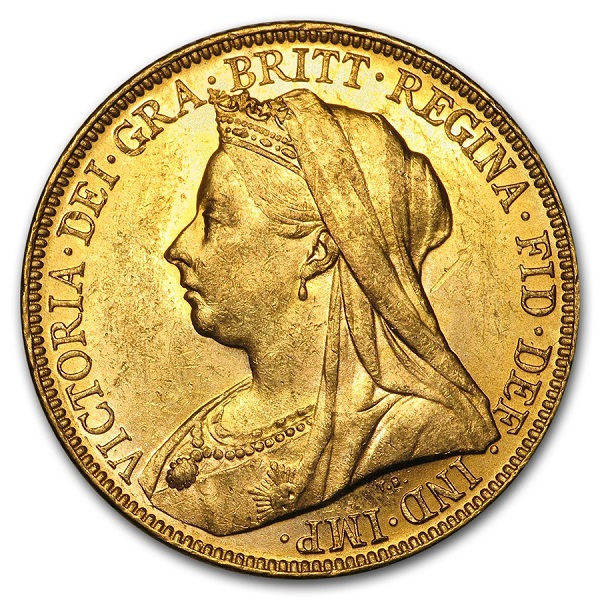 1893-1901-M Australia Gold Sovereign Victoria Veil Head