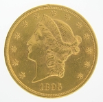1895 $20 Gold Double Eagle Liberty Coin
