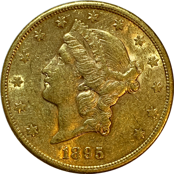 1895-S $20 PCGS MS62 Gold Double Eagle Liberty Coin
