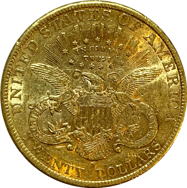 1895-S $20 Gold Double Eagle Liberty Coin