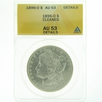 1896 O Cleaned Silver Morgan Dollar ANACS AU-53