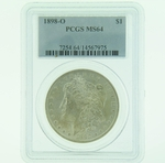 1898 O Silver Morgan Dollar PCGS MS-64
