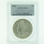 1898 Silver Morgan Dollar PCGS MS-61