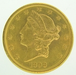 1898-S $20 Gold Double Eagle Liberty Coin