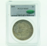 1899 Silver Morgan Dollar PCGS MS-65 CAC