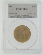 1901 PCGS MS61 $10 Gold Eagle Liberty Coin