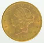 1901-S $20 PCGS MS63 Gold Double Eagle Liberty Coin