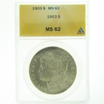 1903 Silver Morgan Dollar ANACS MS-62