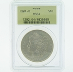 1904 O Silver Morgan Dollar PCGS MS-64