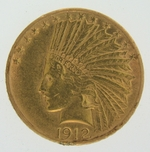 1912 $10 Gold Indian Head Eagle Coin
