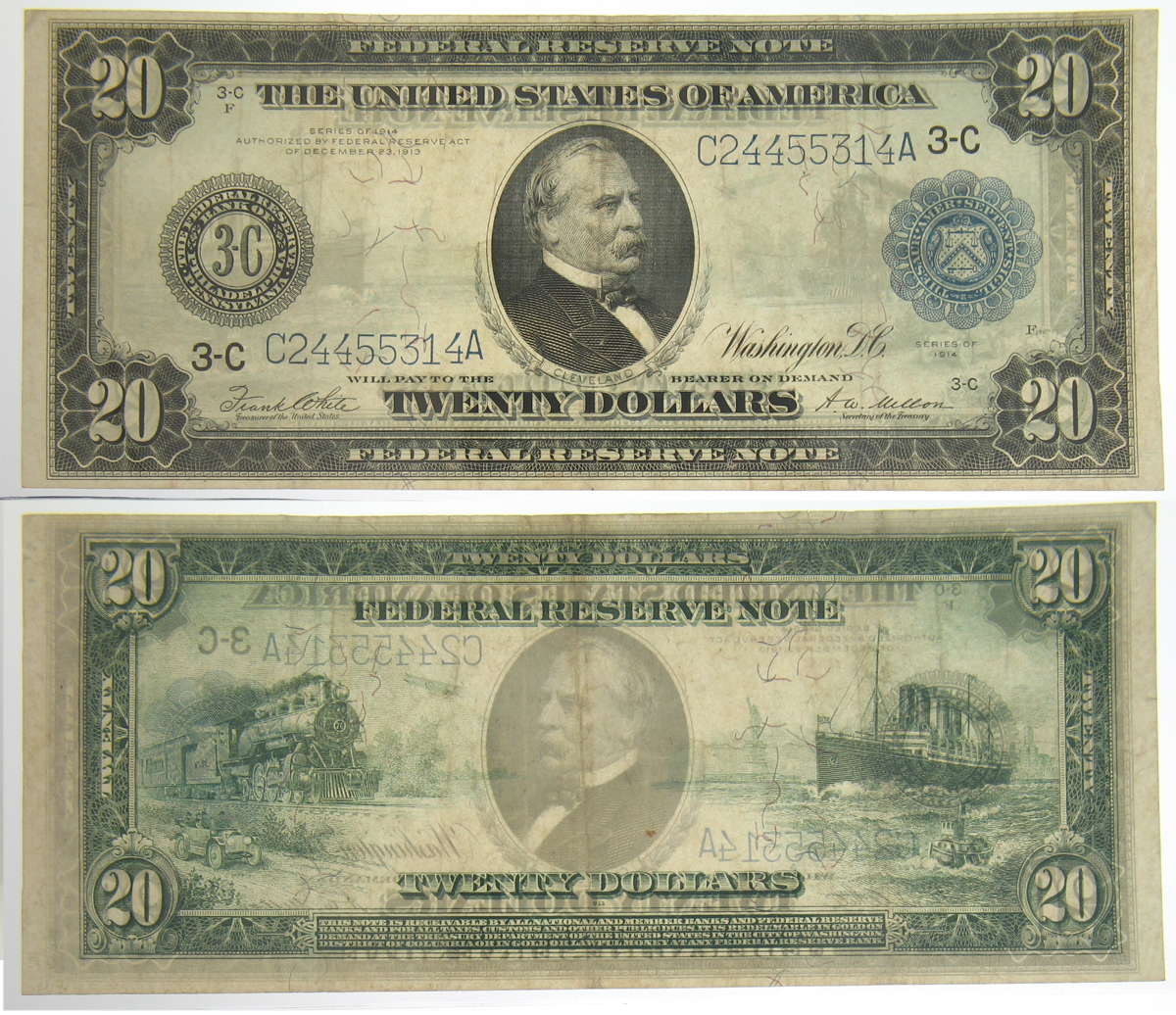 1914 Series $20 Federal Reserve Note
