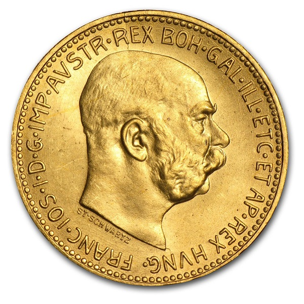 1915 Austria Gold 20 Coronas -Restrikes - Click Image to Close