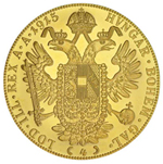 1915 Austria Gold 4 Ducat Coin .4438 oz Fine Gold