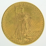 1924 $20 Gold Double Eagle Saint Gaudens Coin