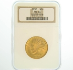 1932 $10 Gold Indian Head Eagle Coin NGC MS64
