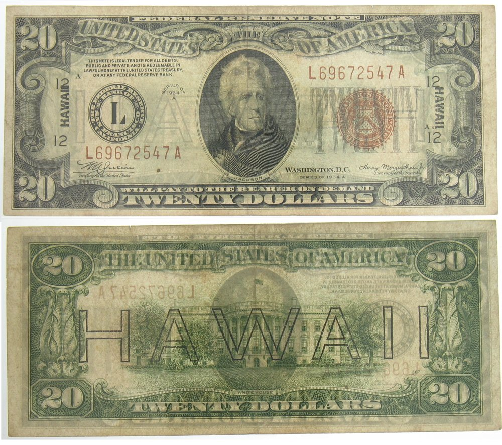 1934A Hawaii $20 Federal Reserve Note