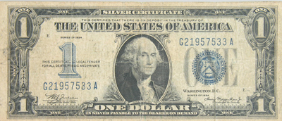 1934 $1 Silver Certificate G-VG