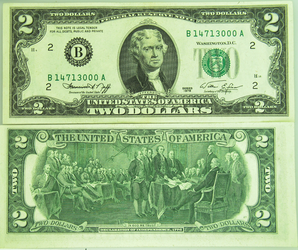 1976 $2 Two Dollar Federal Reserve Note CU