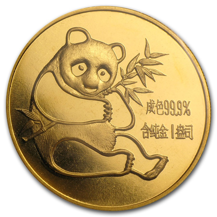 1982 China 1 oz Gold Panda BU Sealed
