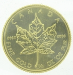 1982 1/2 Ounce Canadian Gold Maple Leaf Coin - Click Image to Close