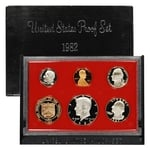 1982 US Mint Proof Set Coins