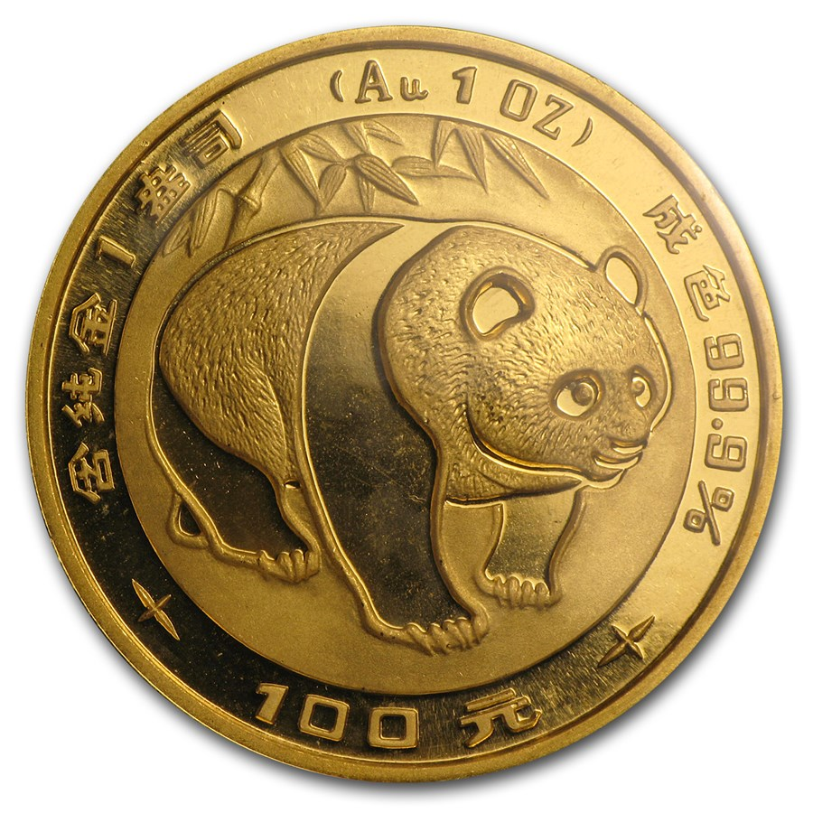 1983 China 1 oz Gold Panda BU Sealed