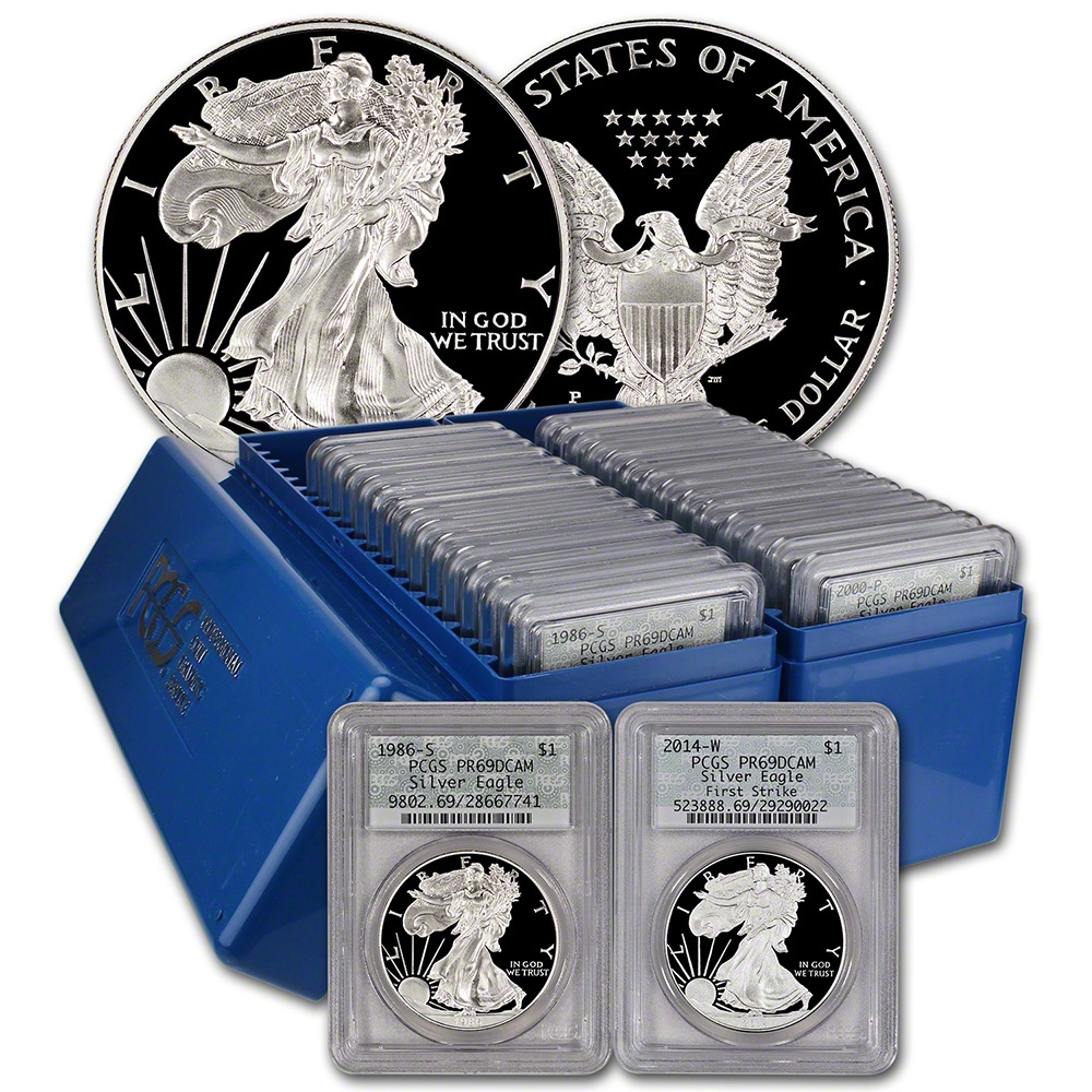 1986-2015 29-Coin Proof PCGS PR69 Silver American Eagle Set