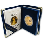 1986-W Proof 1 oz Gold American Eagle Coin With Box & COA