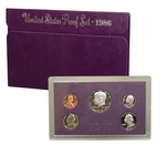 1986 US Mint Proof Set Coins